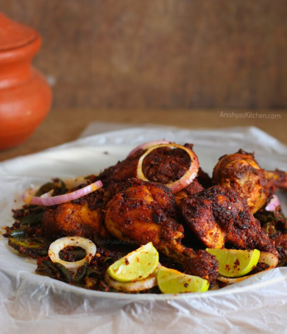 Payyoli-chicken-fry-Kerala-Chicken-Fry-Thattukada-Chicken-fry-Naadan-kozhi-porichathu-scaled